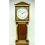 A Miniature Longcase French Mahogany and gilt Timepiece